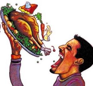 mangiare in fretta